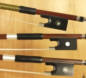 Selection of violin bows